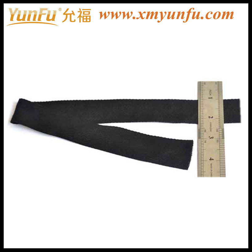 Fashion Black 1 inch cotton webbing