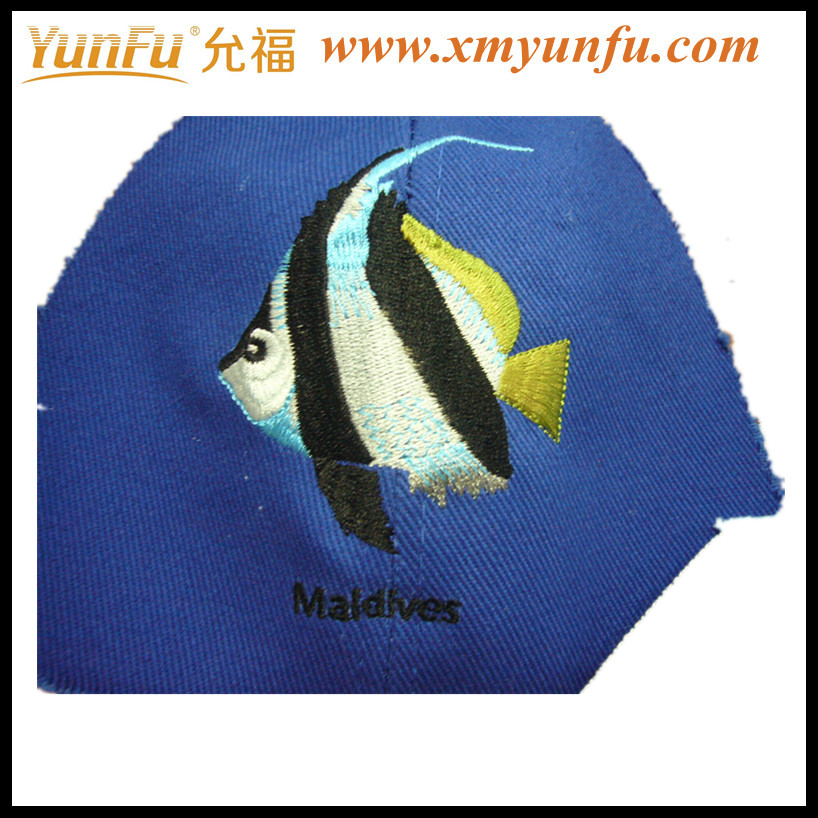Designed Cap Fish Embroidery Patch