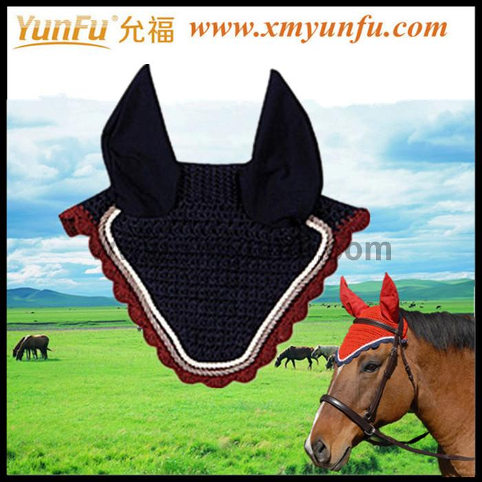 Customization with Rhinestones and cords Horse Mesh Fly Veil