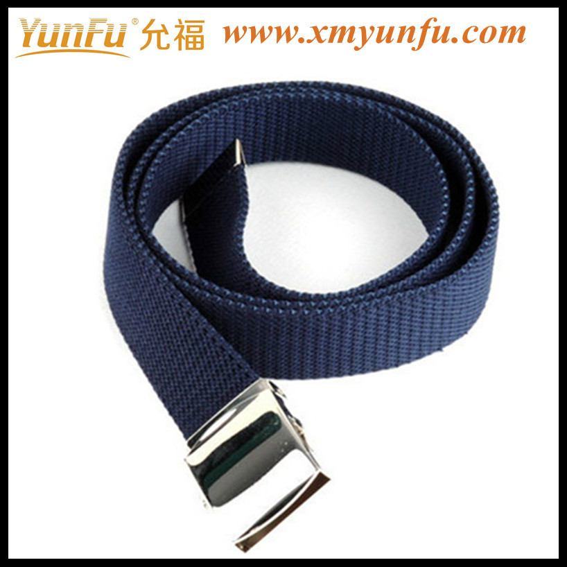 Fashion Mens Cotton Belts With Metal Buckle