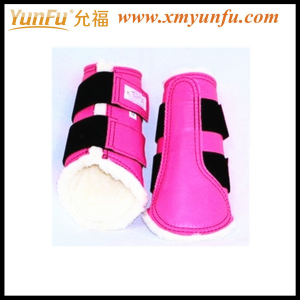 Red Neoprene boots for horse