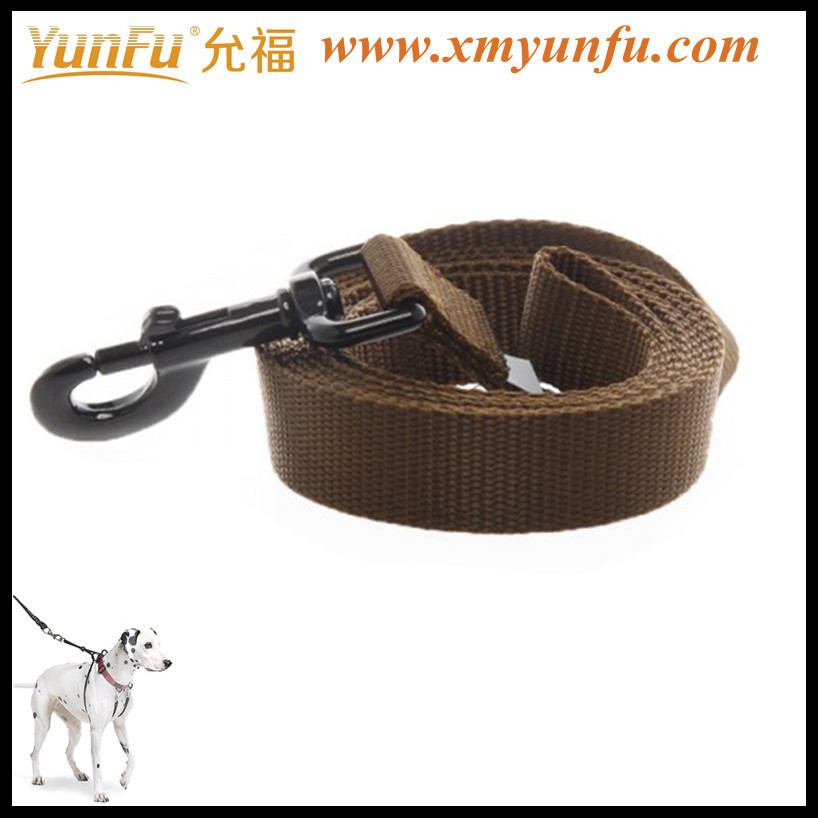 Factory Price Metal Buckle Polyester dog collar leash