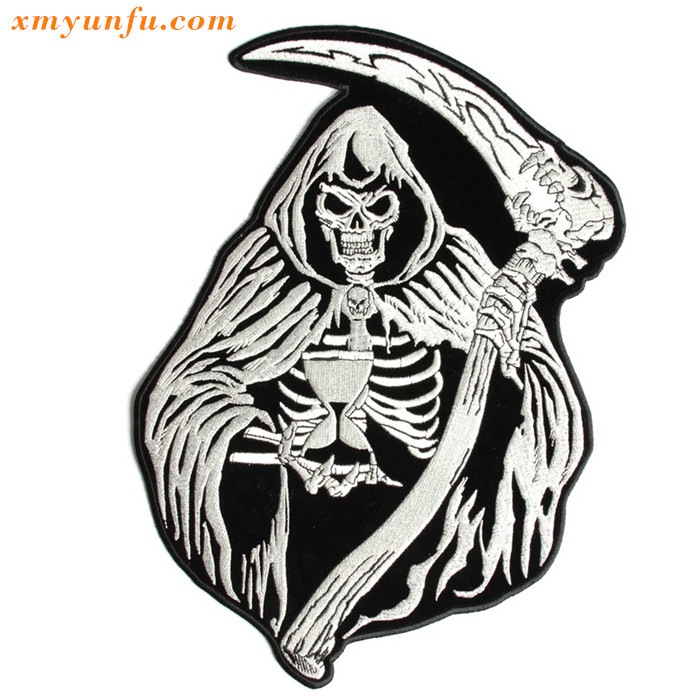 Reaper Skull Sand Clock Large Patch