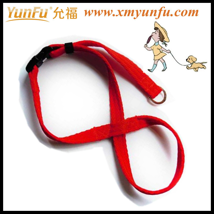 "Vogue Red 4 feet long x 3/4""wide dog leash parts"
