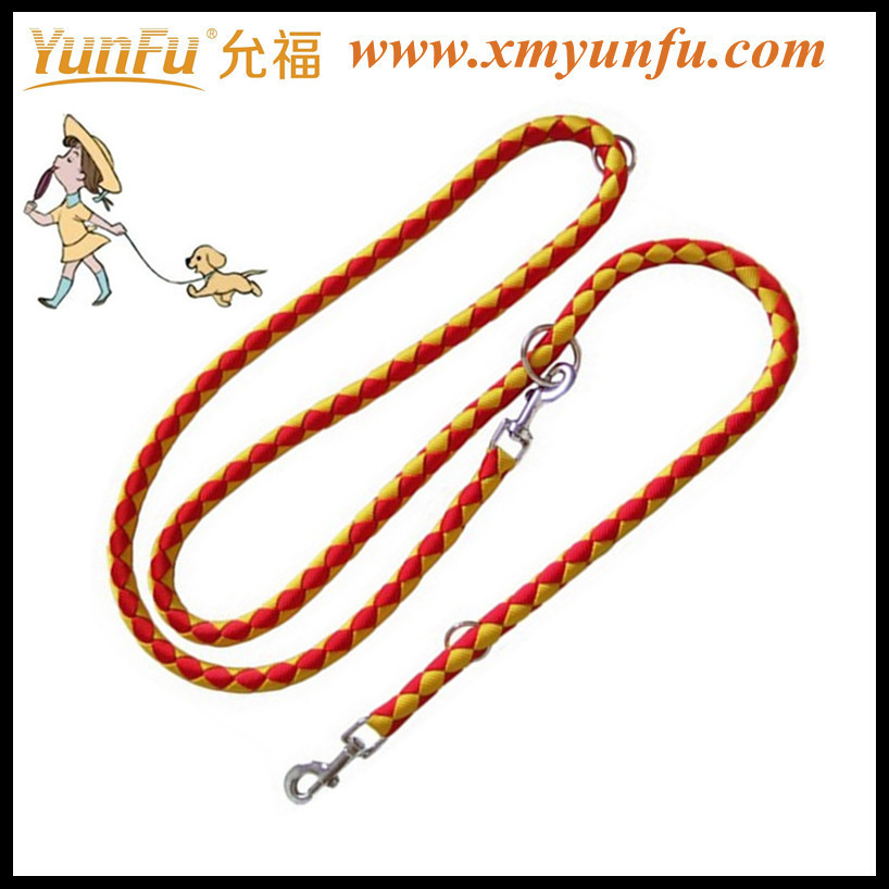 Braided nylon rope dog leash rope pet leash fabric pet harness