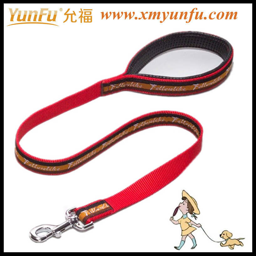 Red Printing Pet collars and leashes for pitbull leash for dog