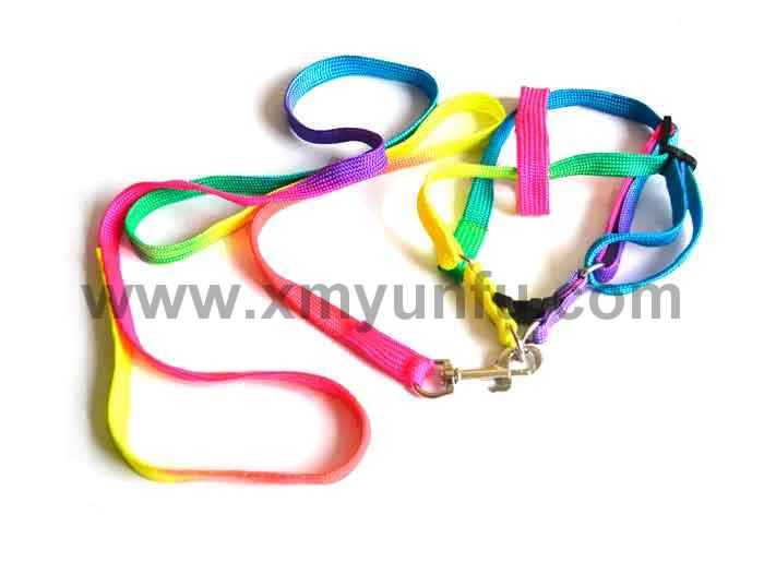 Pet Traction Rope Traction Belt Dog Rope Rainbow Traction Belt-Chest and Back Suit