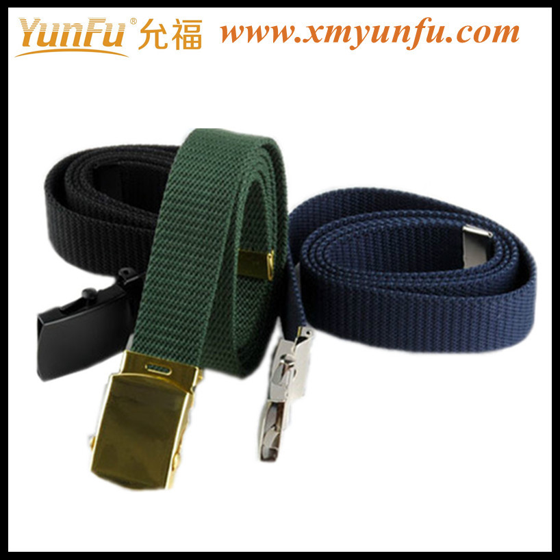 Cheap 100% cotton belt With Metal Buckle