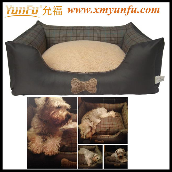Washable plaid oxford cloth Teddy mattress cat house Suitable for medium and small dog Pet nest