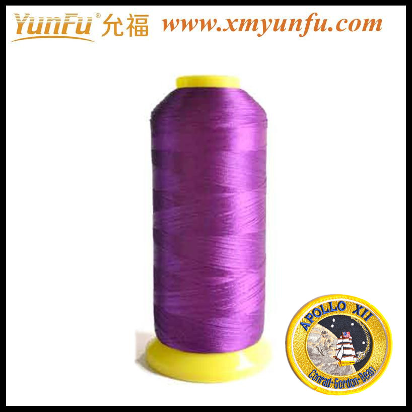 High-strength viscose rayon embroidery thread