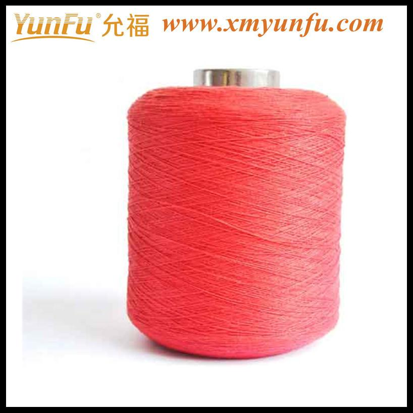 Red weaving webbing thread with spun polyester sewing thread
