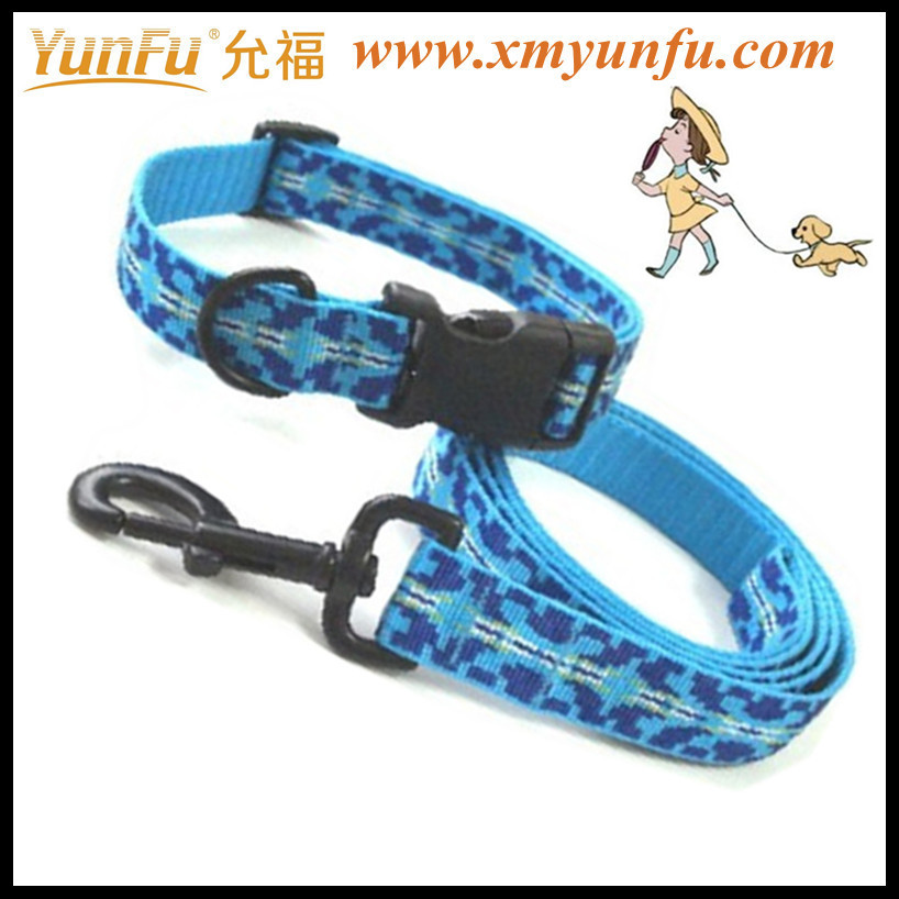 Flash textile printing pet leash collar for dog collar and leash