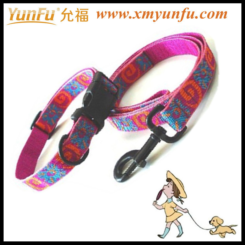 Pretty jacquard multicolor dog collars and leads