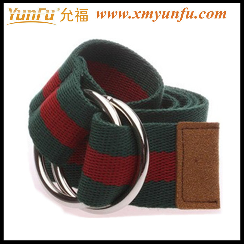 Fashion Web Belts With Two Color & D Ring