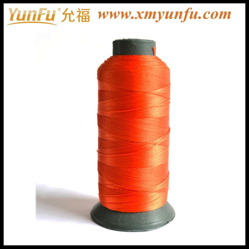 Red nylon polyester waterproof sewing thread