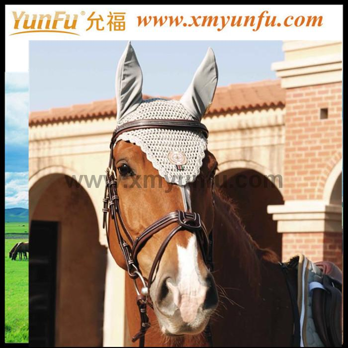 Horse Racing Crochet Riding Bonnet with Studs