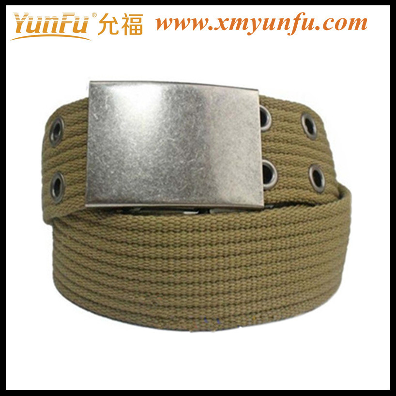 High Quality Men Army Webbing Belt With Brushed Buckle