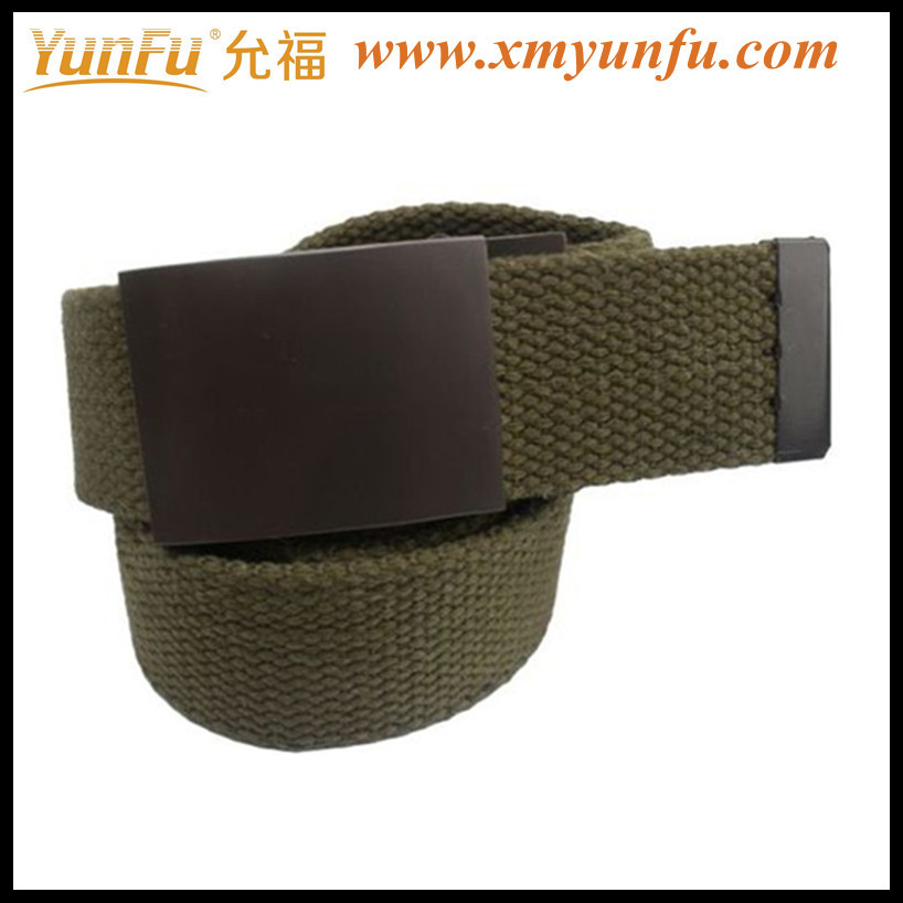 High Quality Green Polyester&Cotton Army men's belt