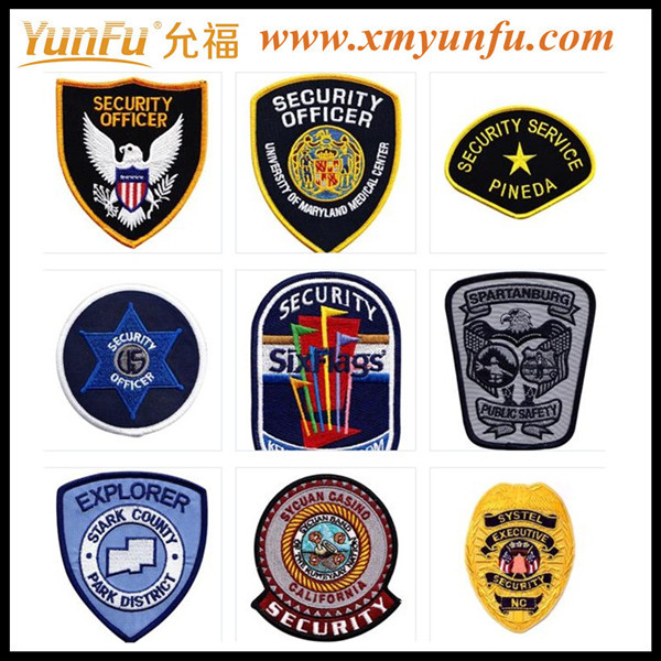 Embroidered patches woven badge
