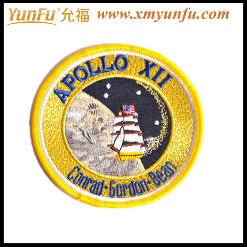 4inch Round badge APOLLO High-Quality Embroidery Badge