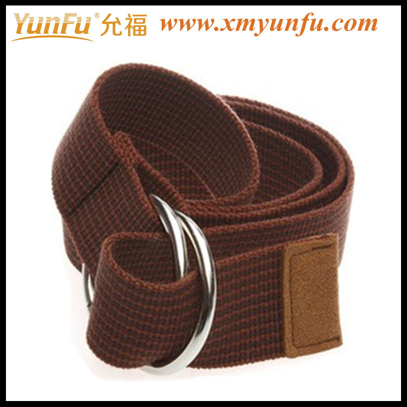 Brown D Ring Canvas Fashion Belt