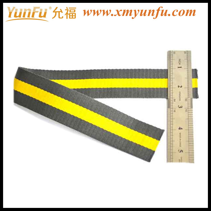 Cheap Yellow polyester webbing belt For Bag