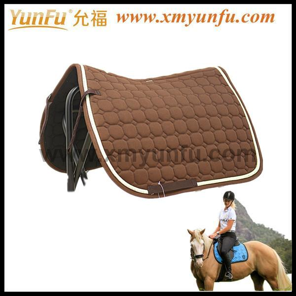 Cotton Fabric Horse Riding Jumping saddle pad