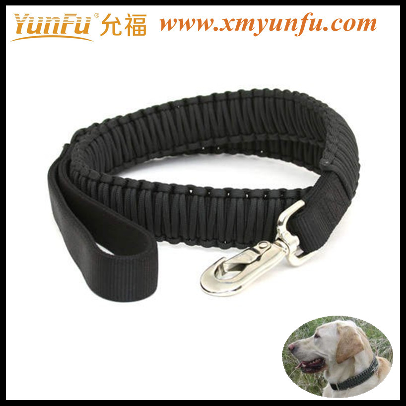 Wholesale Black Metal Buckle Nylon name brand dog collars and leashes