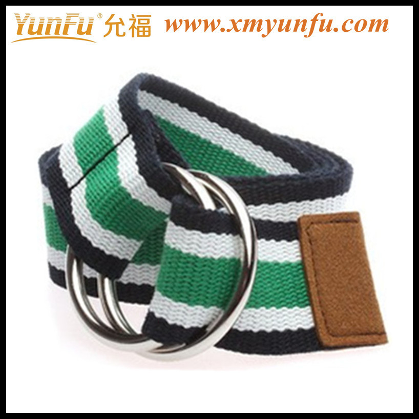 Pretty Unisex Poly Web Belt With Ring